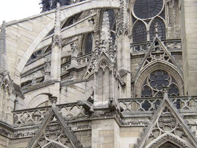 Flying Buttress of Notre Dame, France