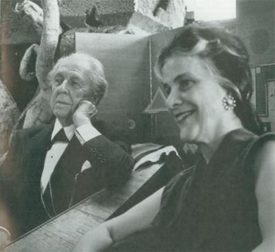 Frank Lloyd Wright and his wife Olgivanna Lasovich