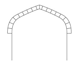 Tudor arch or Flattened Gothic Arch